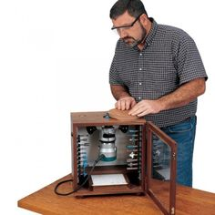 Router tables are expensive and so are most store bough storage solutions for your router and bits. This handy plan is both a traveling router table as well as a storage unit for your router and your favorite router bits. Complete with adjustable fence! A great way to save money.