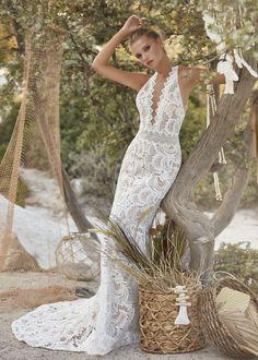 Lace Wedding Dress, Fit And Flare Wedding Dress, Luxury Wedding Dress, Bridal Dresses, Wedding Gowns, Bridesmaid Dresses, Boho Inspiration, Herve, Mocca
