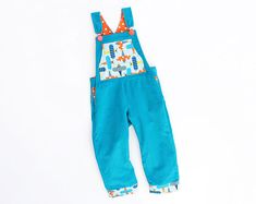 BRIGHT PLANES Boy Girl Romper pattern Pdf sewing pattern, Dungaree Overall, Children toddler, size 3 4 5 6 7 8 9 10 years Instant Download