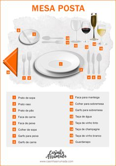 Dicas de etiqueta à mesa – Casinha Arrumada If you have been invited to a more formal lunch or dinner, you must know the rules of etiquette at the table to learn how to behave and make a good impression. Deco Table, A Table, Dining Table, Decor Interior Design, Interior Design Living Room, Kitchen Hacks, Kitchen Decor, Dining Etiquette, Etiquette And Manners