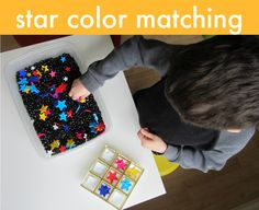 Star Color Matching & Sensory Tub. Pinned by The Sensory Spectrum, @SensorySpec, wp.me/280vn