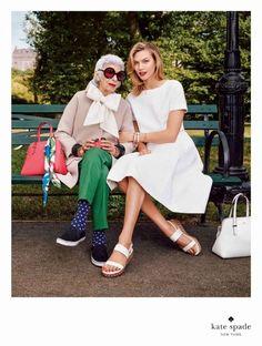 Iris + Karlie for Kate Spade. / Spring 2015 Campaign