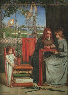 The Girlhood of Mary Virgin, 1848-49, oil, Tate Gallery in London.