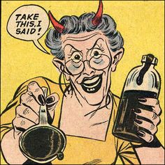 Just say 'No', kids! (From 'Forbidden Worlds' #107)