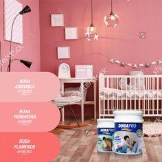 El color rosa tranquiliza y comunica amor. Los tonos oscuros se usan para expresar diversión, emoción, energía. DURAPRO te ofrece varios para que pintes tus espacios! probálos! www.durapro.com.ar/simulador-de-colores Color Rosa, Amor, Spaces, Home