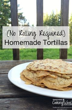 {no rolling} Homemade Sourdough Tortillas. A normally hour-long messy tortilla-creating endeavor is transformed into a clean, no-rolling required, tortilla fiesta! Sourdough Recipes, Thm Recipes, Kitchen Recipes, Whole Food Recipes, Dinner Recipes, Cooking Recipes, Healthy Recipes, Bread Recipes, Lunch Recipes
