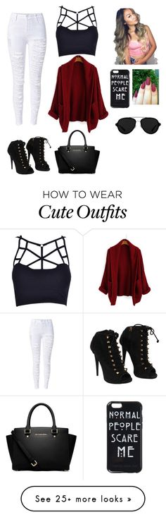 """""""First outfit"""" by diazmya on Polyvore featuring Giuseppe Zanotti, MICHAEL Michael Kors and 3.1 Phillip Lim"""