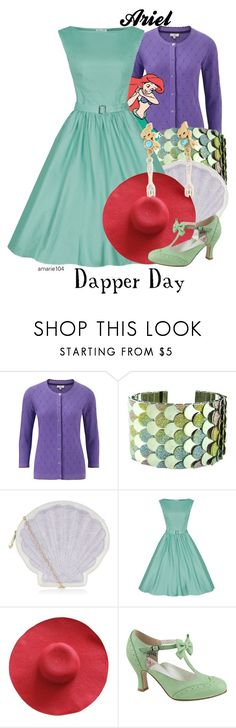 """""""Ariel (Dapper Day)"""" by amarie104 ❤ liked on Polyvore featuring CC, New Look, Pinup Couture and Disney"""
