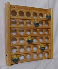 Oak 36 Kcup Coffee Pod Holder by TumbleweedWoodworks on Etsy, $53.00
