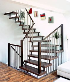 15 Beautiful Staircase Designs, Stairs in Modern Interior Design  interesting use of metal??