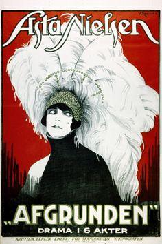 "minksmilk: "" Asta Nielsen film and drama posters, c.1920s """