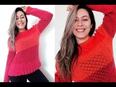 ✿ Blog-By-Day :: Blusa Degradê de Tricô Parte 1 Blog By Day, Do Video, Day Work, Baby Knitting, Crochet Top, Diy And Crafts, Day By Day, Pullover, Stitch