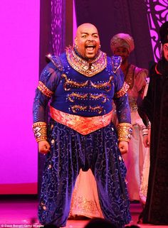 The master of ceremonies is Trevor Dion Nicholas as the genie and he certainly gives it fu...