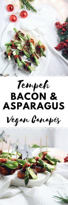 Tempeh Bacon & Asparagus Vegan Canapés Recipe | #Vegan #Recipe #VeganRecipe