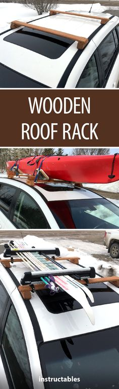 Wooden Roof Rack #woodworking #outdoors #vehicle