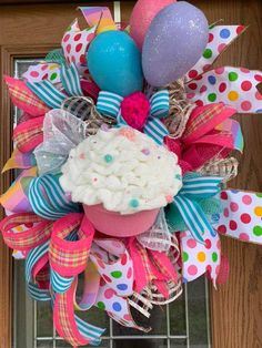 Your place to buy and sell all things handmade – Wreath For Front Door İdeas. Birthday Door, Diy Birthday, Happy Birthday, Birthday Ideas, Birthday Party Celebration, Birthday Parties, Cupcake Wreath, Birthday Decorations, Birthday Wreaths