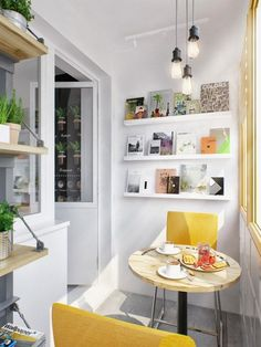 book and dining nook