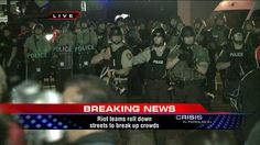 Law Enforcement gas grenades and stun  | ... Night Of Chaos In Ferguson As Police Fire Tear Gas And Stun Grenades