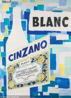 Bernard Villemot   1958 Cinzano Blanc 165 x 125