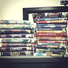 Disney Movies. I need most of my favorites and classics. Anything with a Princess that was made before.... 2000 is a must. Except Cinderella. I've got that one!