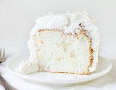 Coconut Angel Food Cake ~ http://iambaker.net