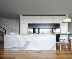 My favourite way to feature an island bench is with marble Beautiful design by @corbenarchitects #houseinmosman