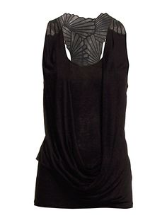Karen Millen Tn107 Draped Vest With Cutwork #Karen Millen