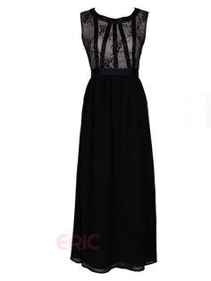 Ericdress Black Lace Patchwork Sexy & Clubwear Dress Little Black Dresses
