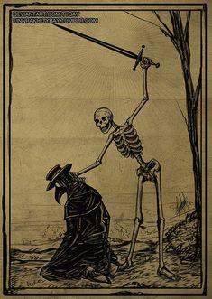 Totentanz by Tybay on DeviantArt Macabre Art, Danse Macabre, Arte Horror, Horror Art, Piskel Art, Desenho Pop Art, Arte Peculiar, Death Art, Satanic Art