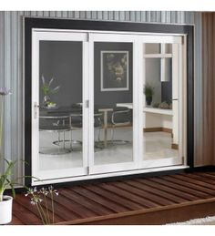 Details about uPVC French Doors 1100mm1200mm White Brown