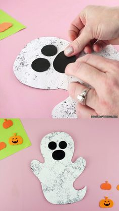 Halloween Decorations For Kids, Halloween Arts And Crafts, Halloween Crafts For Toddlers, Theme Halloween, Halloween Crafts For Kids, Preschool Art Projects, Preschool Crafts, Fun Crafts, Kindergarten Christmas Crafts