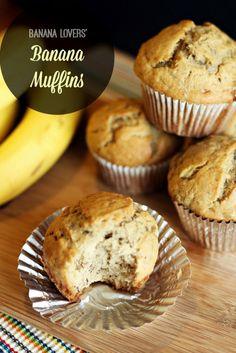 Banana Lovers' Banana Muffin recipe 2/16 NICE AND MOIST ABOUT 5-6 BANANAS. NH