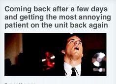 It's happened to everyone at least once Cna Nurse, Nurse Jokes, Nurse Life, Rn Humor, Medical Humor, Medical Assistant, Ecards Humor, Trauma Nurse, Hospital Humor