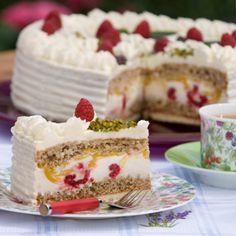 Himbeer-Mango-Torte