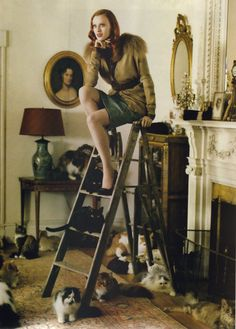 """Karen Elson in """"Fuzzy Logic"""" photographed by Tim Walker, Vogue US, September 2005"""