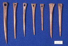 Picture of Needles from York Archaeology (Based on their size and the flare at the heads I think these are dress pins, not sewing needles. Or perhaps Nalbinding needles)