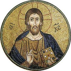Hosios Loukas (nave, vault over south cross-arm) - Pantocrator 02.jpg