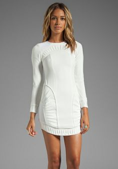 BLESS'ED ARE THE MEEK Palm Dress in Ivory