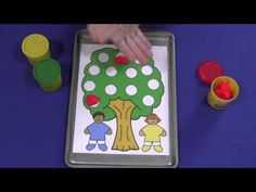 Apple Tree Playdough Mat