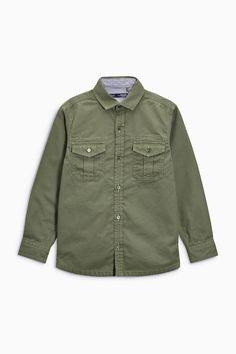 Buy Khaki Long Sleeve Utility Shirt (3-16yrs) from the Next UK online shop