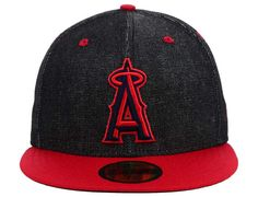 Los Angeles Angels Black Denim 59Fifty Fitted Cap by NEW ERA x MLB