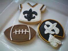 New Orleans Saints Cookies