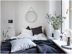 Bedroom | home | interior design | Style | decor | plants | linen | textil | mirror