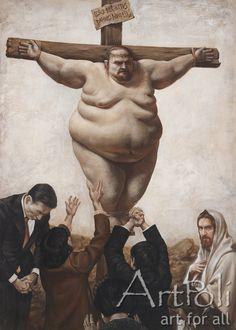 정중원 作, 예수님 믿으세요?    http://www.artpoli.com/works/6850?locale=ko