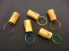 5 Maschenmarkierer Apfelholz - Handarbeit von handlagarn Schweden auf DaWanda.com - Handmade Apple Wood Stich Markers.