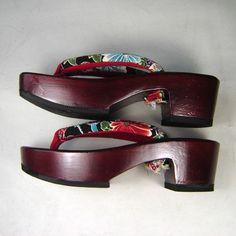 GW11C Japanese Kimono Yukata Geta Sandal Zori High Heel US6 8 UK4 6   eBay