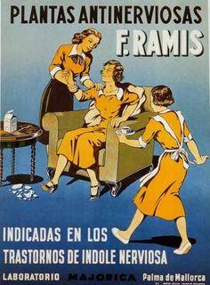 Plantas antinerviosas F. Retro Advertising, Retro Ads, Vintage Advertisements, Vintage Ads, Vintage Posters, Medical Party, Vintage Nurse, Old Commercials, Political Posters