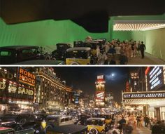Movie and TV Shots Before and After Added Visual Effects