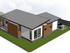 U Shaped House Plans, Dream House Plans, Modern House Plans, Small House Plans, Home Building Design, Home Design Plans, Building A House, Simple House Design, Modern House Design