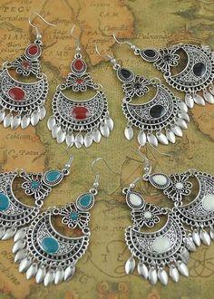 Bohemian Lace Metal Dangle Earrings - 5 Colors  #beautiful #instafav #bestgiftever